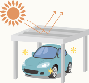 日差しによる車のダメージを軽減できる