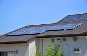 太陽光発電を設置した家