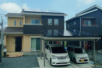 ソーラーカーポート:佐賀県三養基郡 古賀様邸 10.92kW