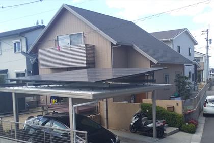 ソーラーカーポート:熊本県菊池郡 岩本様邸 4.50kW