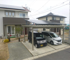 カーポート(ソーラーカーポート):佐賀県佐賀市 圓城寺様邸 4.05kW