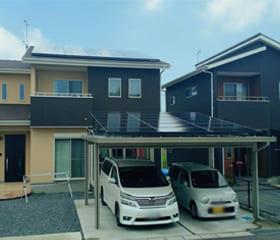 カーポート(ソーラーカーポート):佐賀県三養基郡 古賀様邸 ソーラーカーポート 10.92kW
