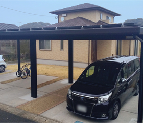 カーポート(ソーラーカーポート):福岡県行橋市 濵田様邸 8.4kW