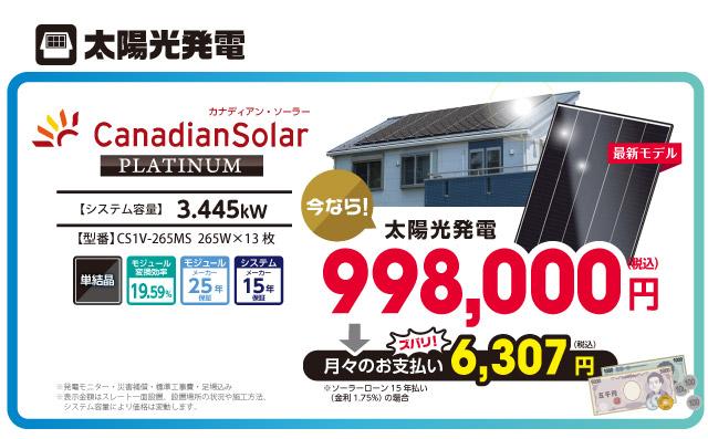 太陽光発電のみ