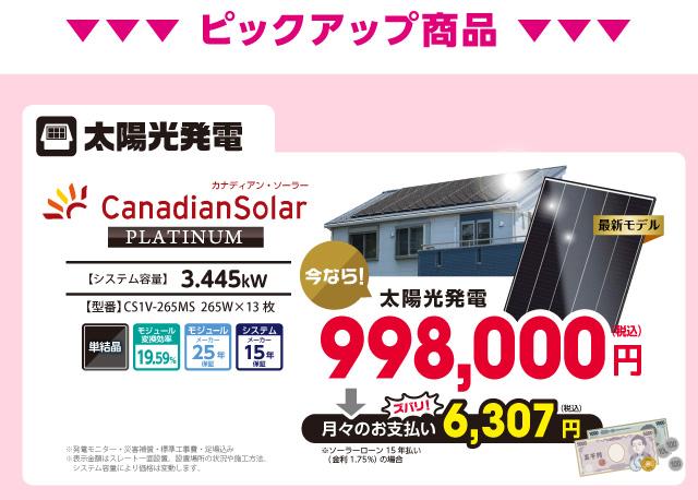 太陽光発電のみなら
